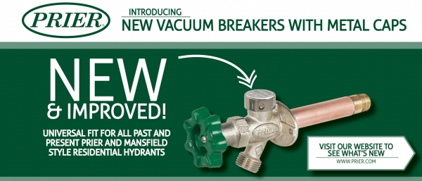 PRIER Introduces New Residential Vacuum Breakers