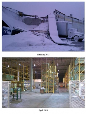Snowstorm Collapses Shipping Facility, But Business Overcomes