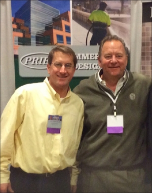 CSA of Georgia representative, Johnny Cole, with PRIER National  Sales Manager, Scott Livingston, at the 2014 Atlanta ASPE Show.