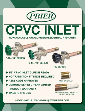 PRIER Introduces New CPVC Inlet