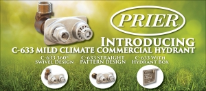 PRIER Announces New Product: C-633 Mild Climate Commercial Wall Hydrant
